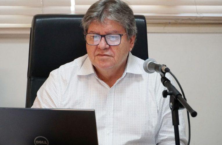 João Azevêdo e outros governadores se reúnem com o presidente Jair Bolsonaro na quinta