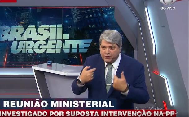 Após vídeo da reunião ministerial, Datena diz que nunca mais entrevista Bolsonaro